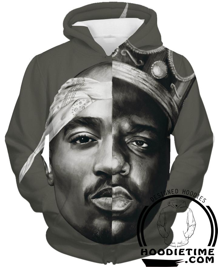 72690d2937b Tupac and Biggie Smalls Hoodie - 3D Pullover Clothing - Hip-Hop Hoodies