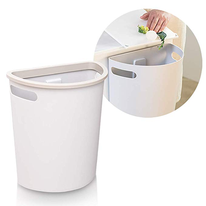 Amazonsmile Subekyu Small Trash Can Hanging Waste Bin Under Kitchen Sink Plastic Wastebasket Over Cabinet Door Wi In 2020 Under Kitchen Sinks Trash Can Waste Basket