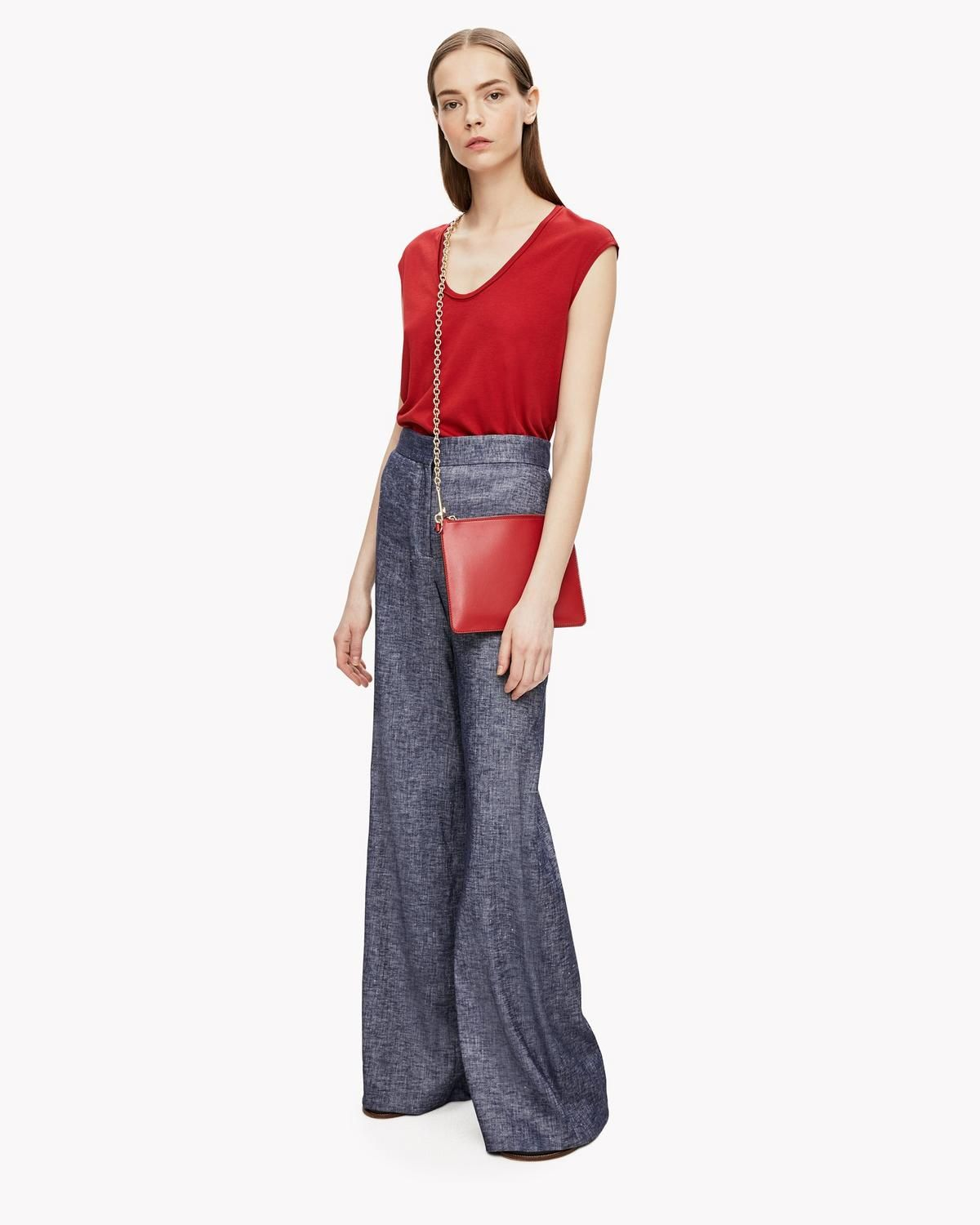 9cf0e03a2f0 THEORY HIGH-WAIST WIDE-LEG LINEN PANT. #theory #cloth # | Theory ...