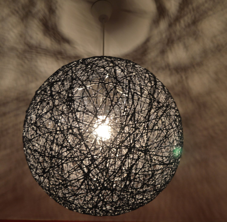 Black sphere string light pendant ceiling eco friendly lamp 50 black sphere string light pendant ceiling eco friendly lamp 50 cm 20 inch arubaitofo Images