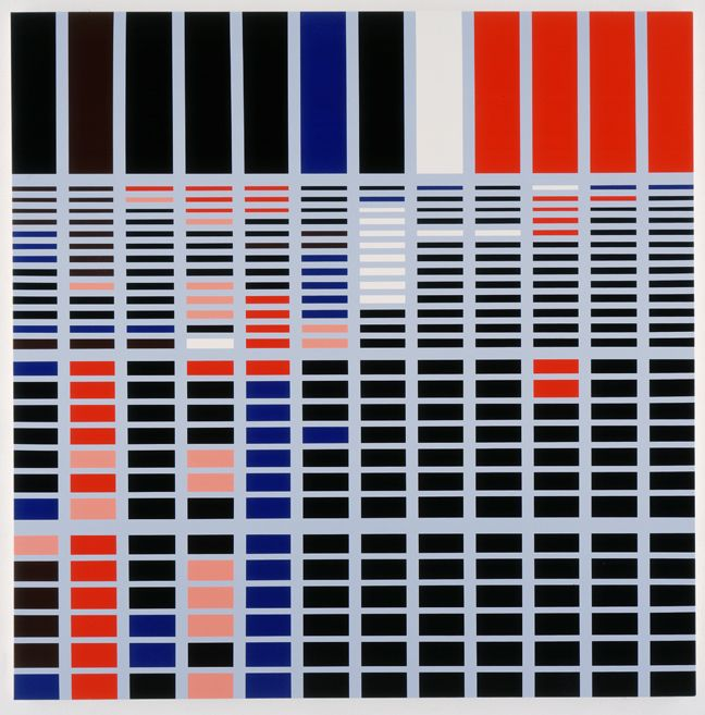 Sarah Morris Capitol Hil Capital Abstract Geometric Painting Art