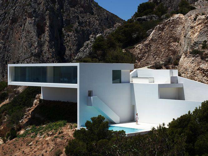 Casa no penhasco Arquiteto: Fran Silvestre Arquitectos Fotógrafo: Diego Opazo