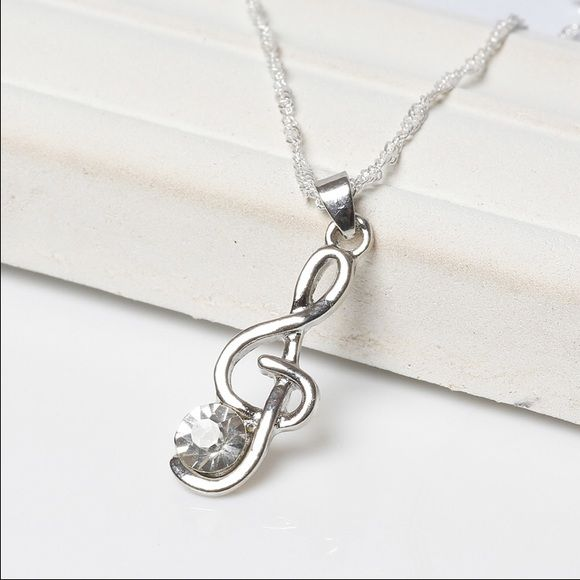 Music Note Necklace Nwt Music Symbols Music Notes And Note
