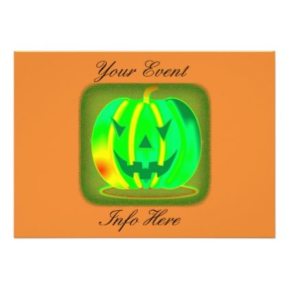 Green Jack o'lantern Halloween Thunder_Cove Card - Halloween happyhalloween festival party holiday