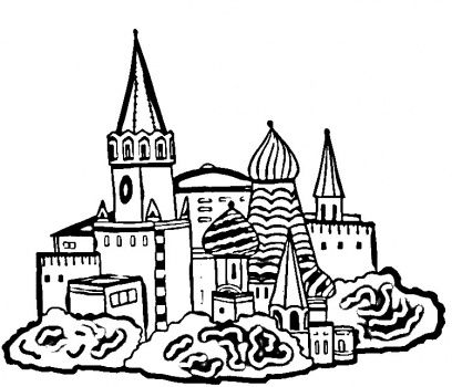 Church Building Coloring Page Church Building Russia Flag
