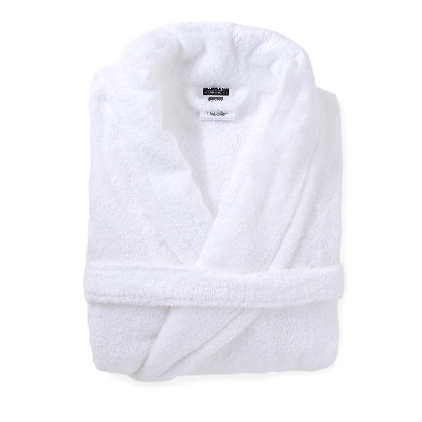 805230 Northern Nights 100% Cotton Air Drop Towelling Bath Robe ...