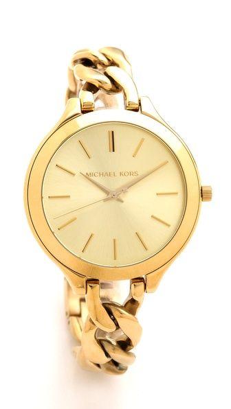 Michael Kors Slim Runway Twist Watch | Accessories, Michael