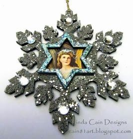 FRIENDS in ART: Glittering Festive Snowflakes