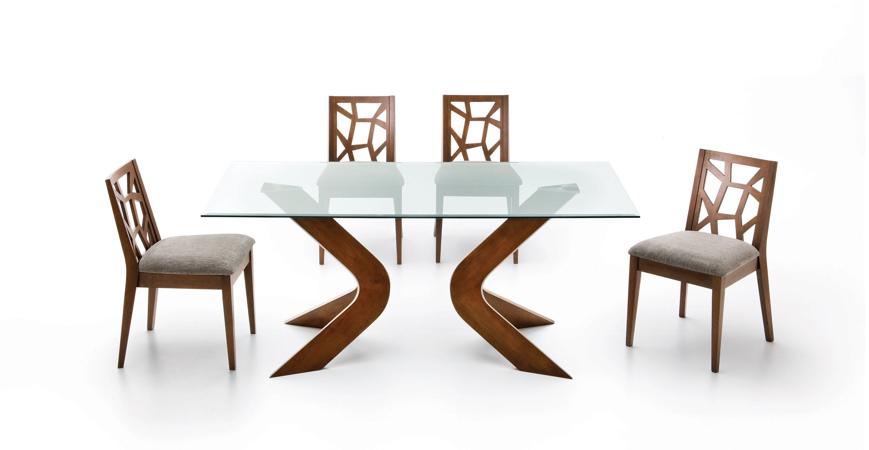 Scott Glass Dining Table Glass Tables Bryght Modern Mid