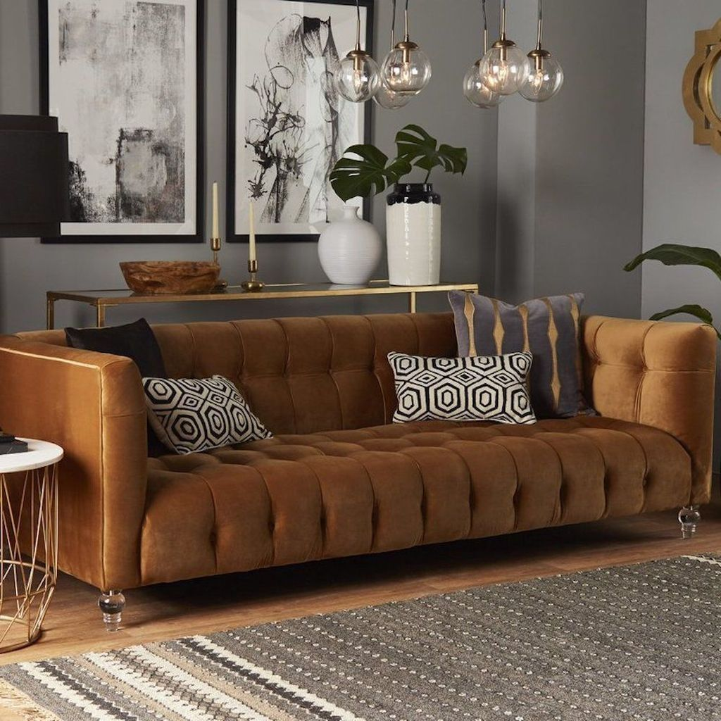 50 Attractive Brown Living Room Design Ideas Brown Couch Living