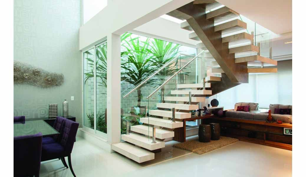 Contemporary Glass Landing Area House