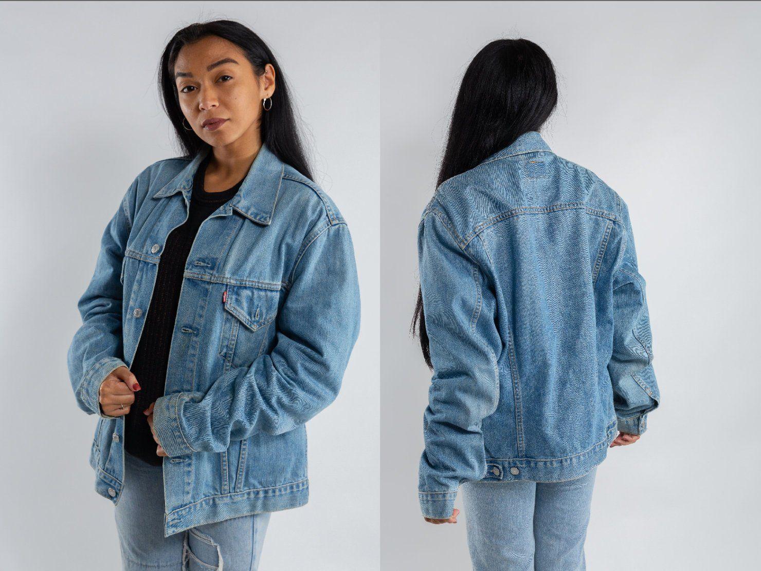 Vintage Levi S Trucker Jacket Oversized Trucker Denim Jacket Women S Faded Destroyed Jean Jacket Men S Levi S Denim Jacket Size Xl Denim Jacket Women Denim Jacket Jean Jacket Men [ 1112 x 1480 Pixel ]