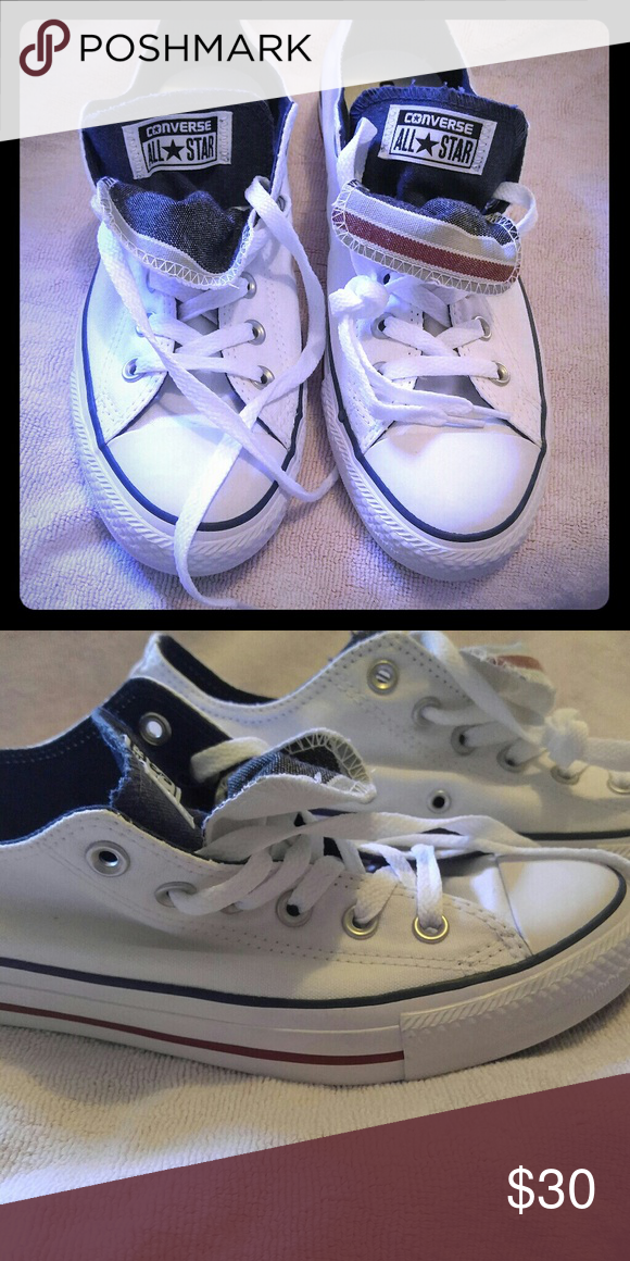 Converse white low tops Never worn converse white low tops Converse Shoes Sneakers