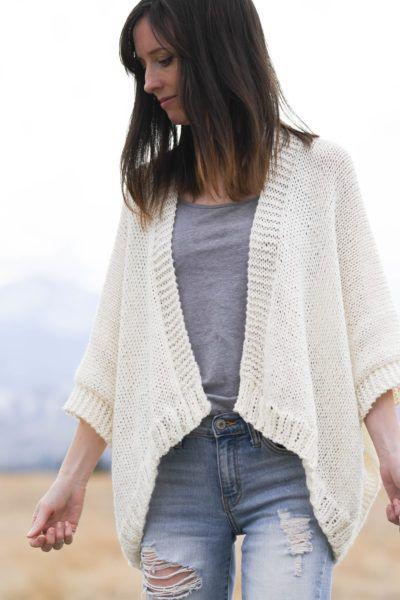 Breckenridge Knit Topper Cardigan Pattern in 2020 | Knit ...