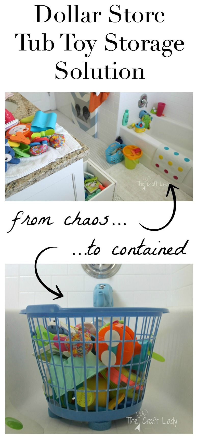 $1 Tub Toy Storage Solution | Toy storage, Clutter and Tubs