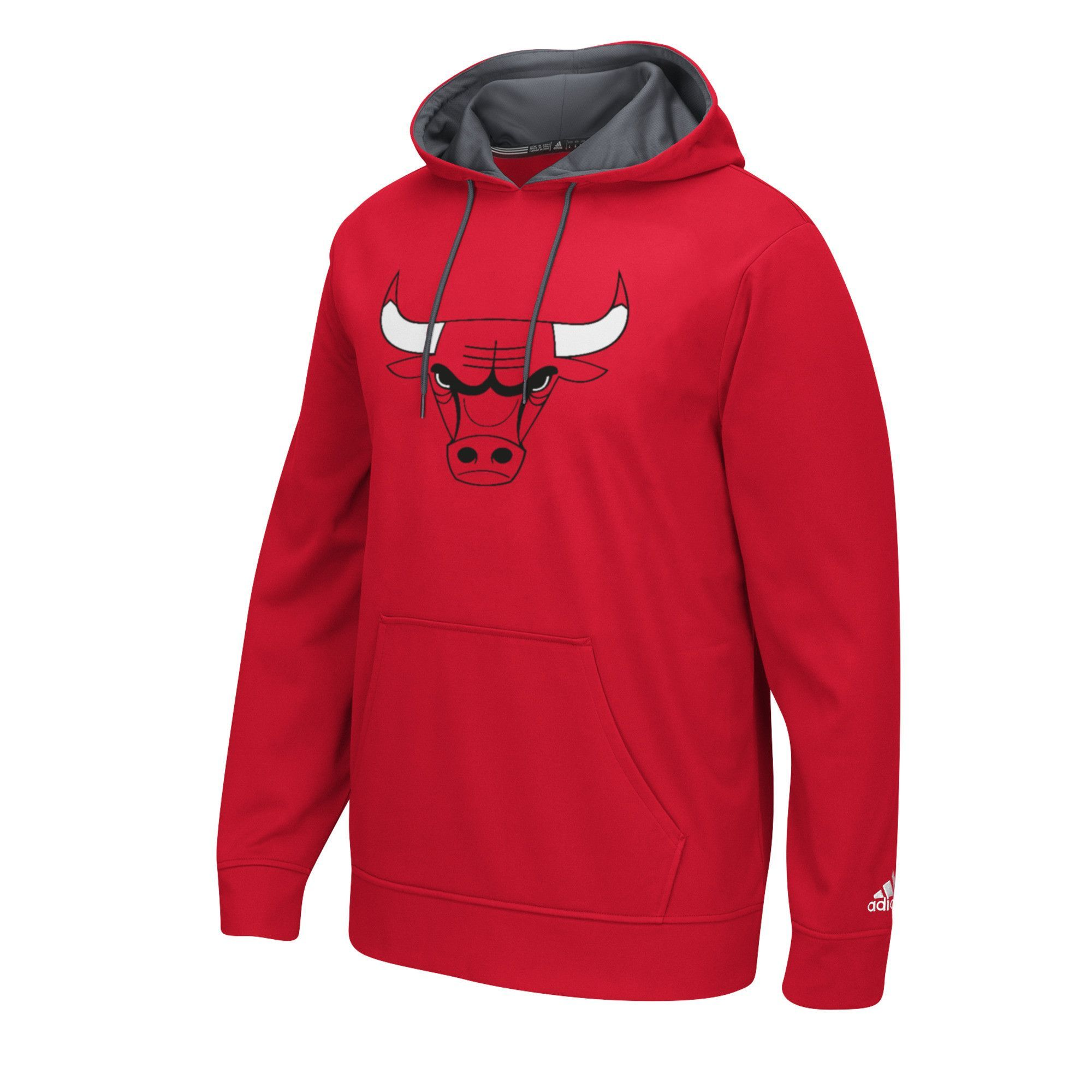 adidas Chicago Bulls Playbook Pullover Hoodie Red