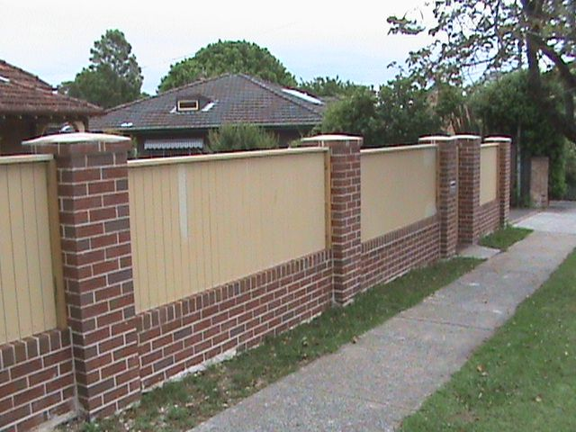 Brick Wall Fence Design Ideas   Google Search