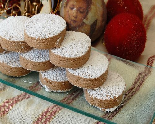 Polvorones de chocolate sin glutén