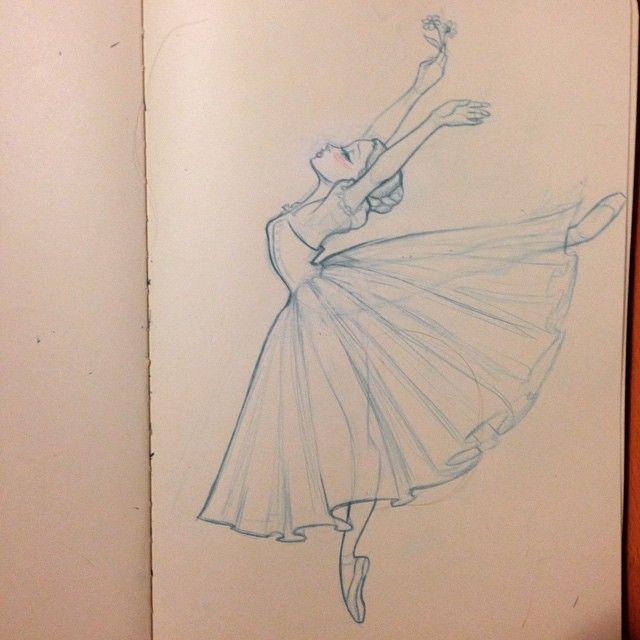 Wishful Dancer Sketch Visual Development Art Lovely Drawing Sketch Dance Ballet Peasant Girl Animation Ballet Drawings Dancing Drawings Ballet Art