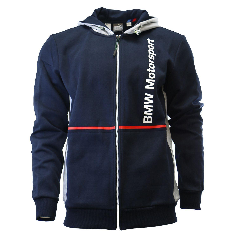 Puma BMW Motorsport Hoodie Fan Hooded Sweat Jacket - Mens