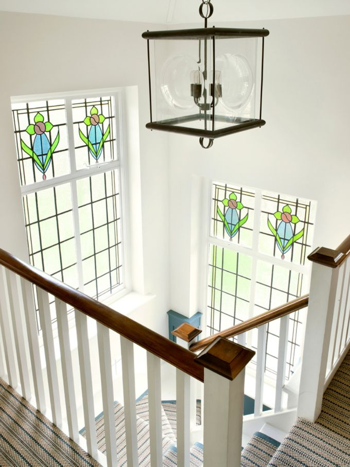 Amory Brown House Window Design Glass Staircase Staircase Window   Staircase Window Glass Design   Geometric   Architecture   Flower   Residential   Glass Brick