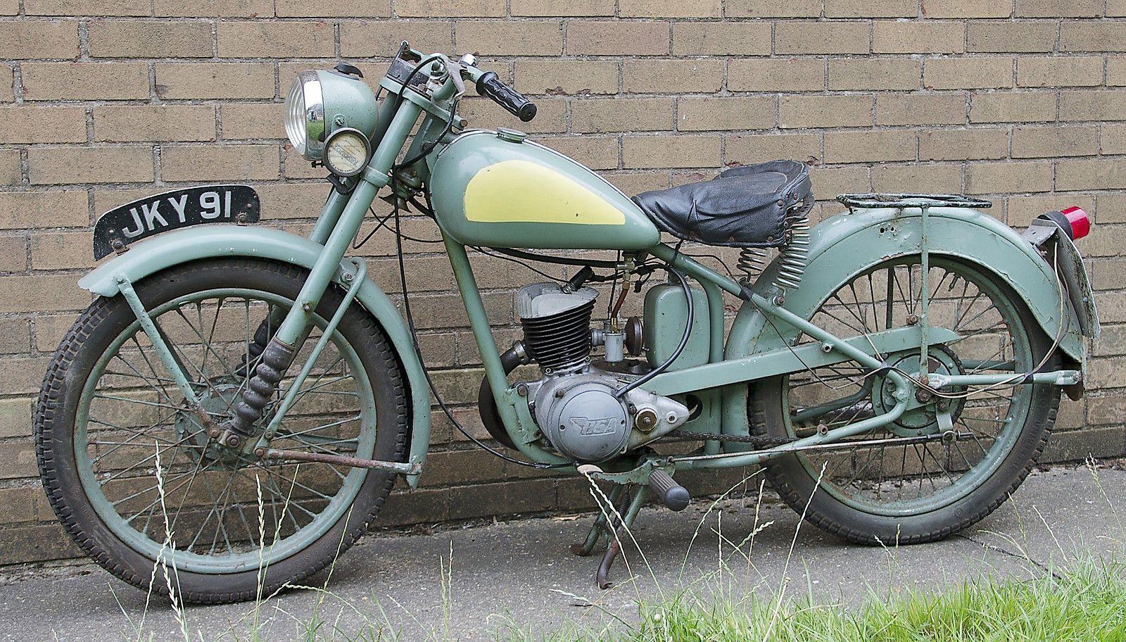BSA D1 Rigid Frame Bantam 125cc 1953 Vintage Motorcycle