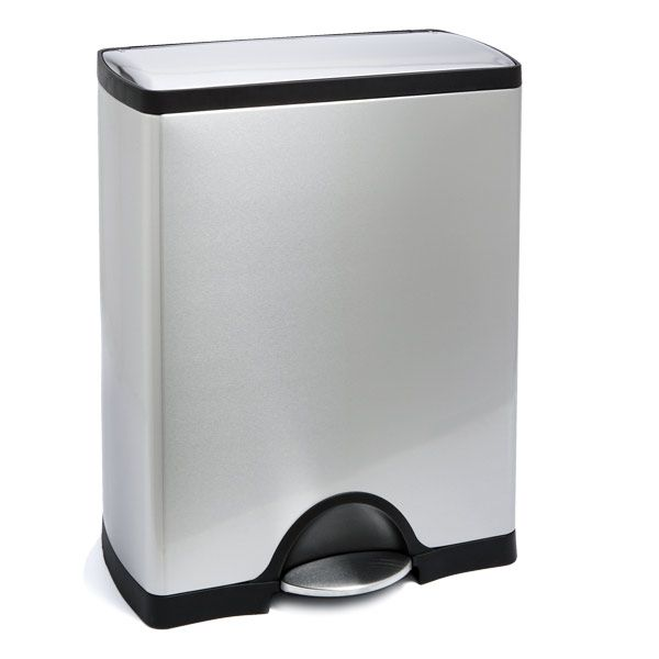Delightful Simplehuman Stainless Steel 13 Gal. Rectangular Step Trash Can