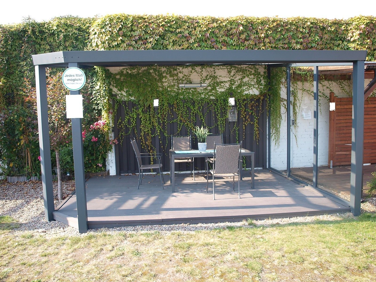 ALU Terrassendach mit VSG Glas 7,00 x 4,00 m Top Qualität! Terrassenüberdachung in Garten & Terrasse, Gartenbauten & Sonnenschutz, Markisen, Terrassenüberdachung   eBay!