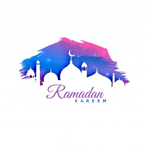Telechargez Ramadan Kareem Fond Avec Mosquee Silhouette Et