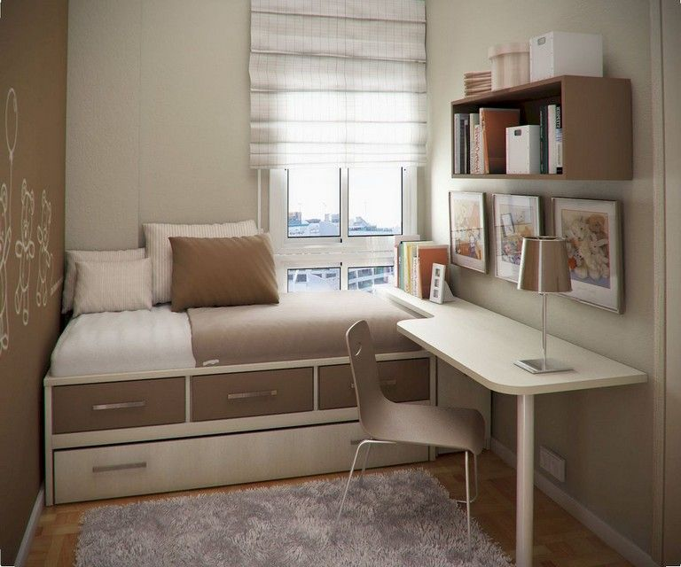 70 Awesome Small Fisrt Apartment Bedroom Decorating Ideas Page 11 Of 72 Small Bedroom Interior Small Bedroom Decor Student Bedroom