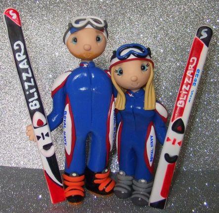 This One Is For Karen Ski Wedding Cake Topper
