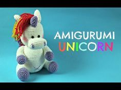 Pap Unicórnio Arco Iris Croche Parte 13cabeça Youtube Mimos