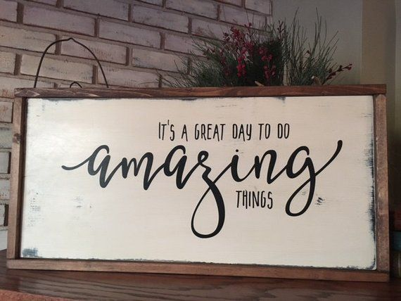 Photo of Amazing Things Wood Sign – Encouragement – Family Room – Home Decor – Farmhouse – Rustic – Shabby Chic – Framed Sign – Gallery Wall
