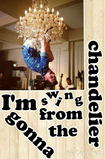 I M Going To Swing From The Chandelier Home Decor Decals Home Decor Decor