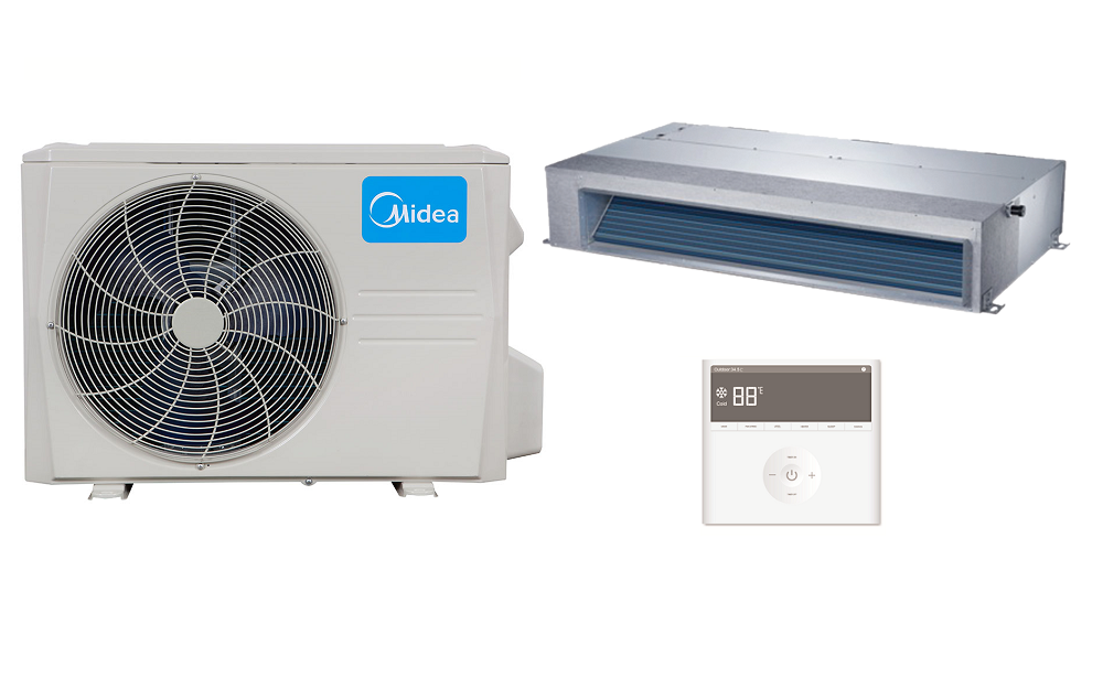 Midea Mid Static Ducted In Minisplitwarehouse Com Looking For A Midea 24000 Btu 20 5 Seer Mid Static Ducte Heat Pump Air Conditioner Heat Pump Heat Pump System