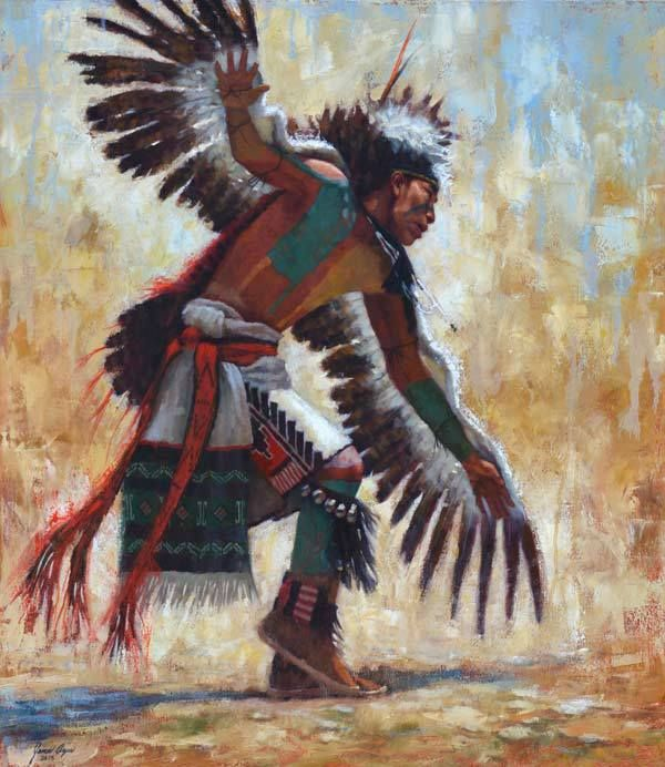 The Soaring Eagle | Hopi | Native American painting | James Ayers Studio