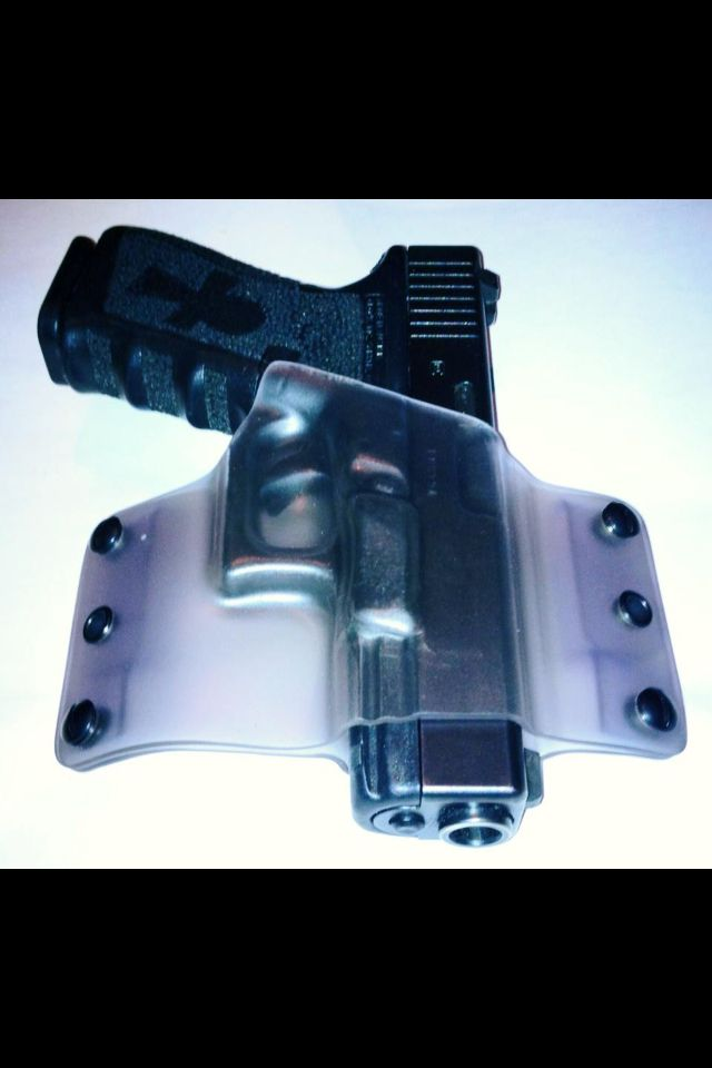 Kydex Glock Holster saw one like this in the 'Stan on a secret squirrel guy, it was smaller.  It looked incredibly practical.