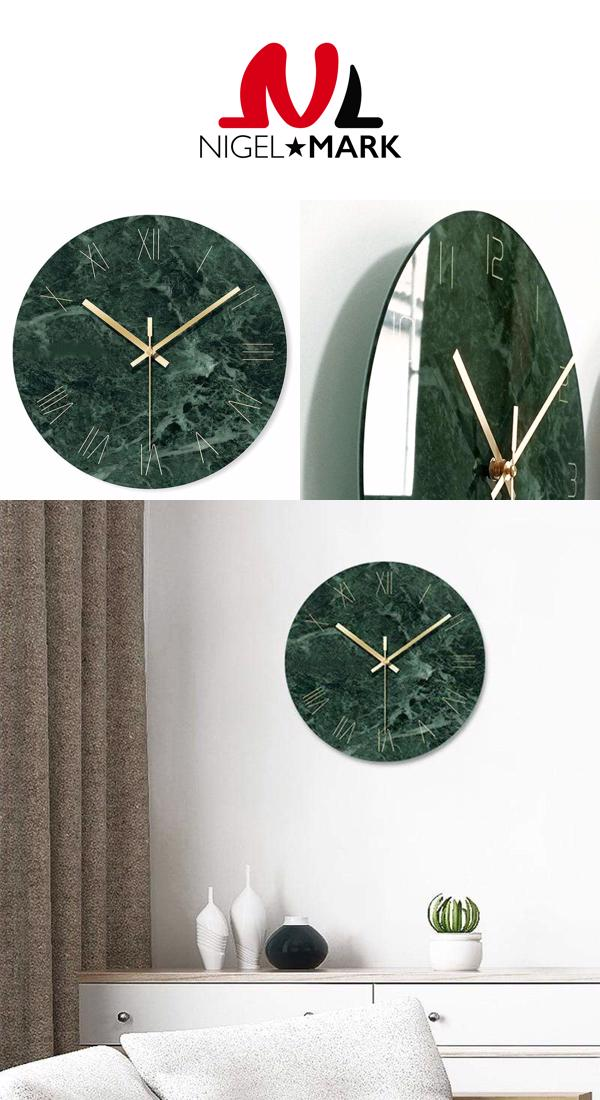 Marble Wall Clock In 2020 Marble Wall Clock Green Marble