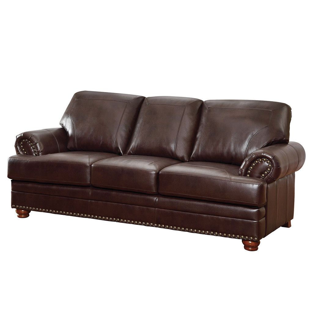 - Colton Leather Sofa Faux Leather Sofa, Brown Leather Sofa
