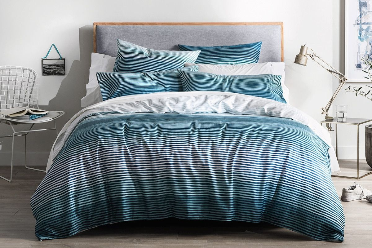 Logan and Mason Magma Teal Doona Quilt Cover Set Single Double Queen King Euro