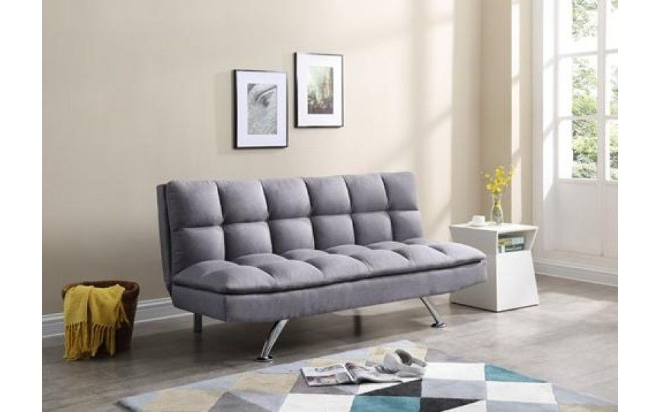 H4home Contemporary Modern 3 Seater Sofa Bed Fabric Luxury Grey 3 Seater Sofa Bed Sofa Bed 3 Seater Sofa