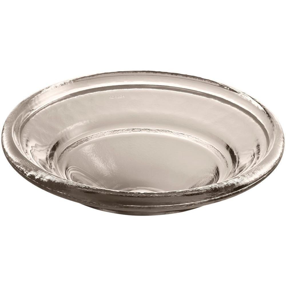 Kohler Spun Glass Vessel Sink In Translucent Doe Glass Vessel
