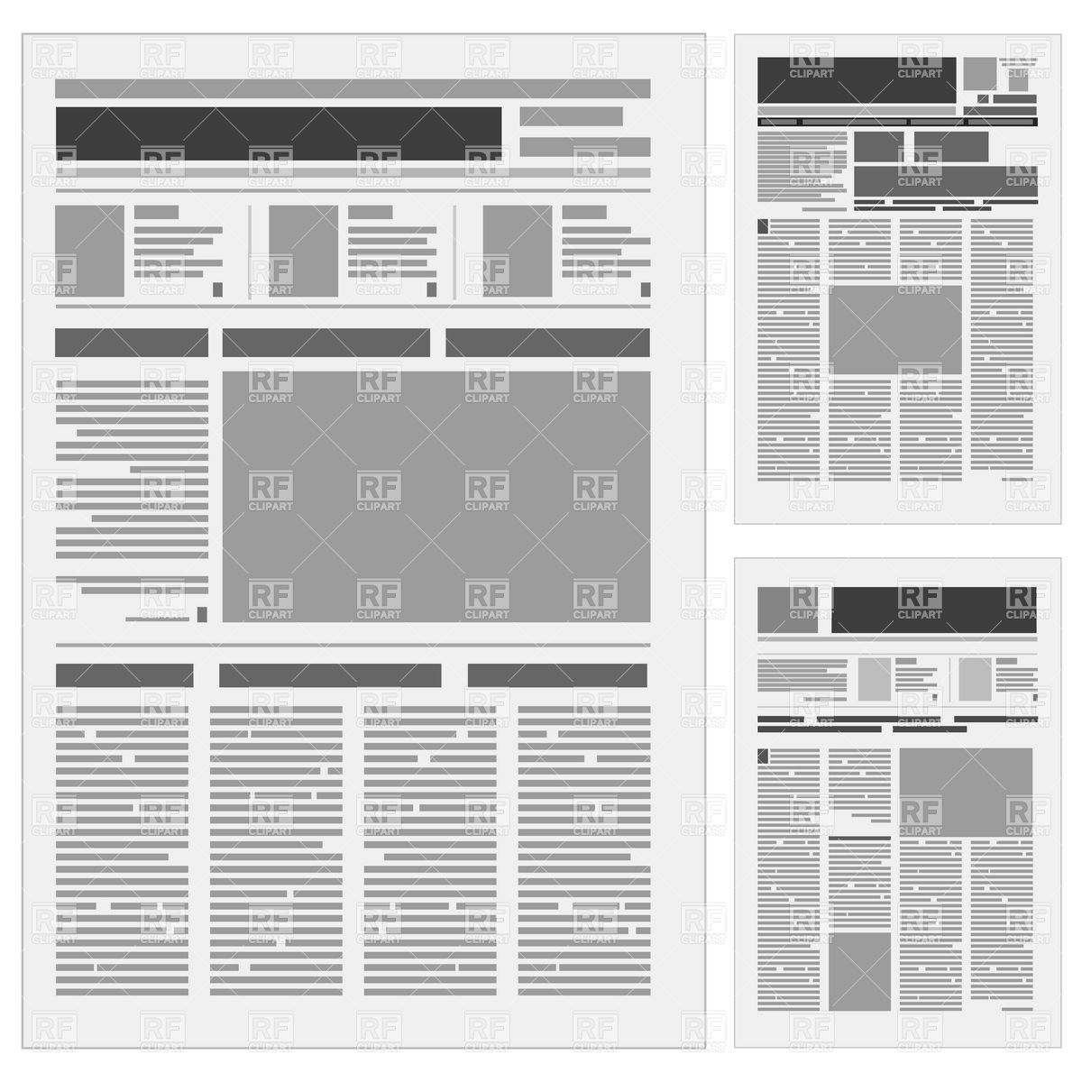 generic-newspaper-layout-Download-Royalty-free-Vector-File-EPS-15836 ...