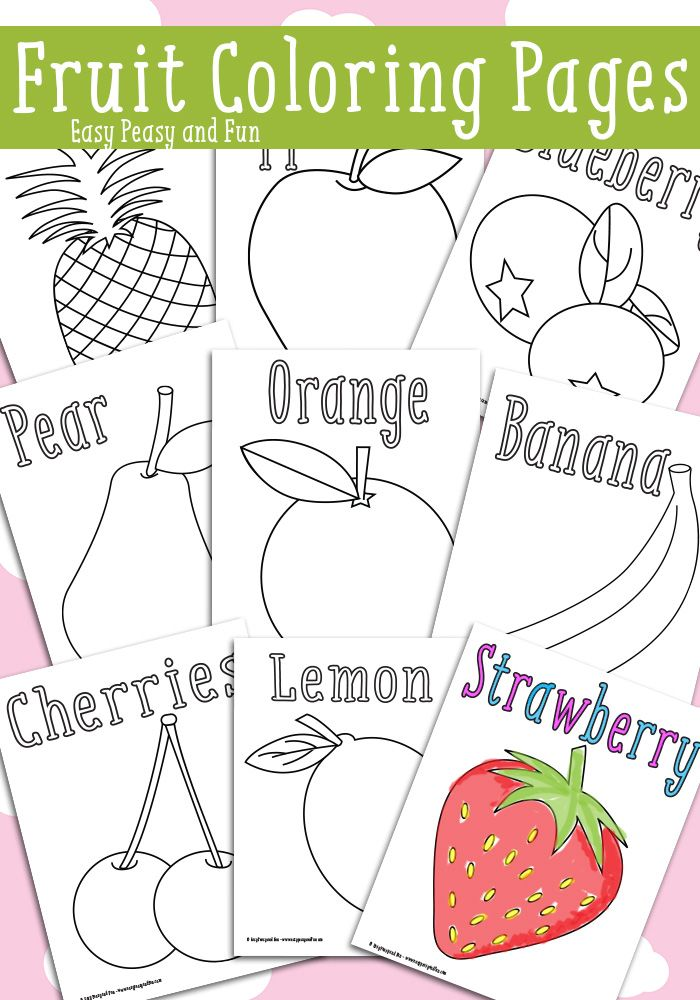 Fruit Coloring Pages - Free Printable | Share Your Craft | Fruit ...