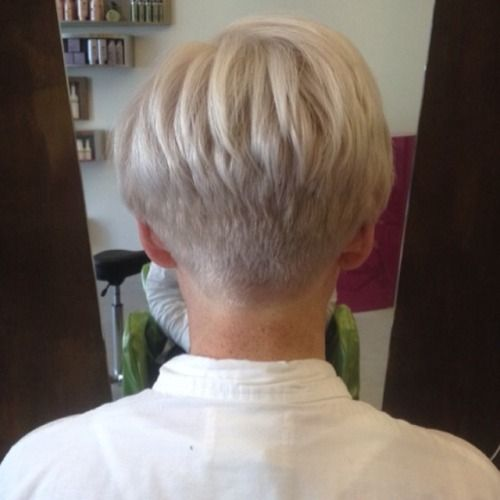 Love The Back View Of This Cut Short Hairstyle In 2019 Short