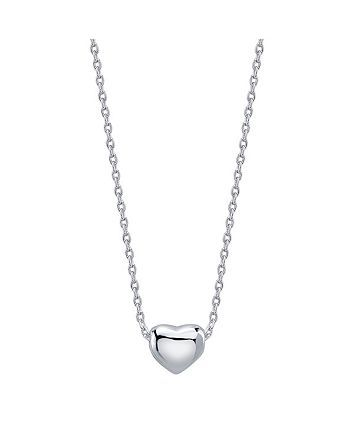 Photo of Unwritten Dainty Heart Necklace in Fine Silver Plate & Reviews – Necklaces – Jewelry & Watches – Macy's