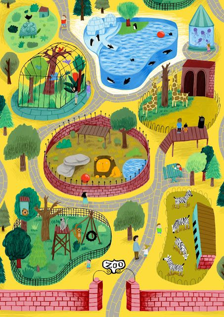 Map illustration by my sister Ilana Exelby (She included ...