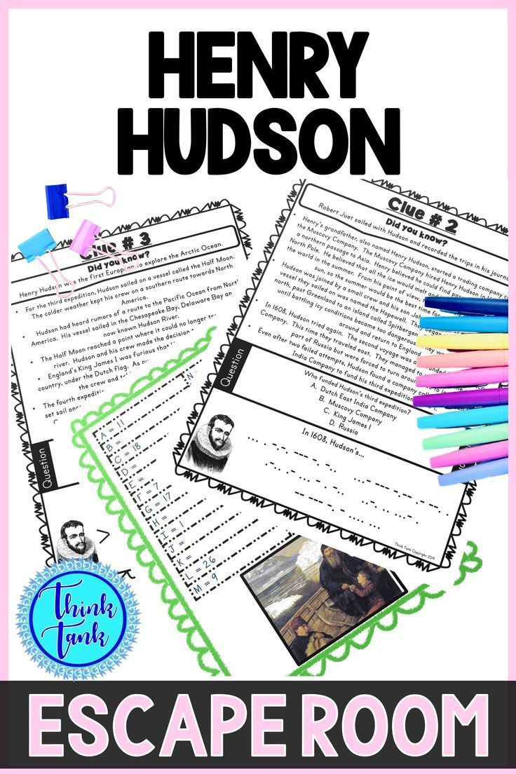 Henry Hudson ESCAPE ROOM Explorers Northwest Passage