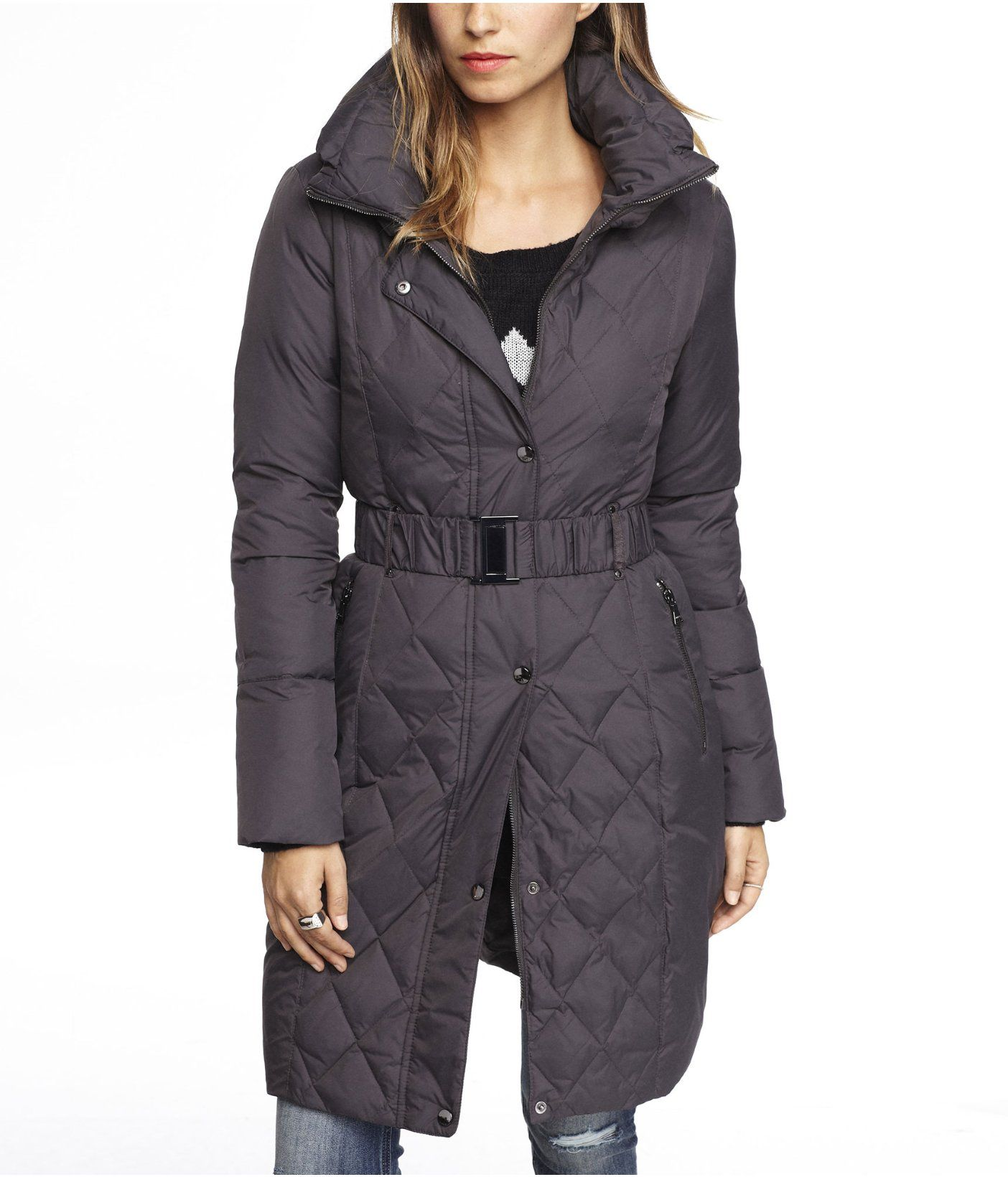ad461c7d18c DOWN FILLED BELTED PUFFER COAT