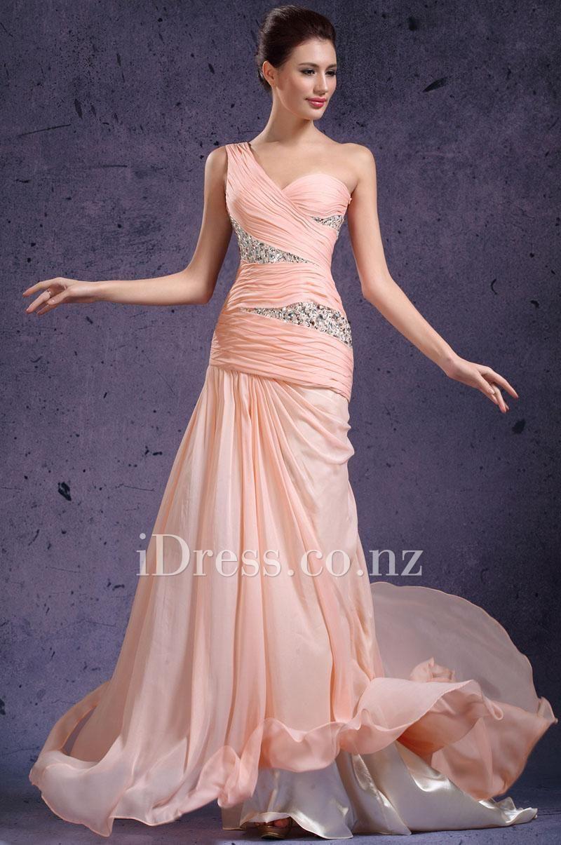 Evening dress dropped waist